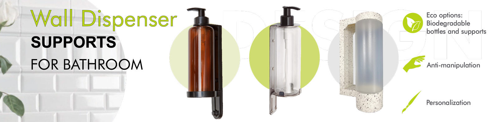 Bathroom stands and dispensers