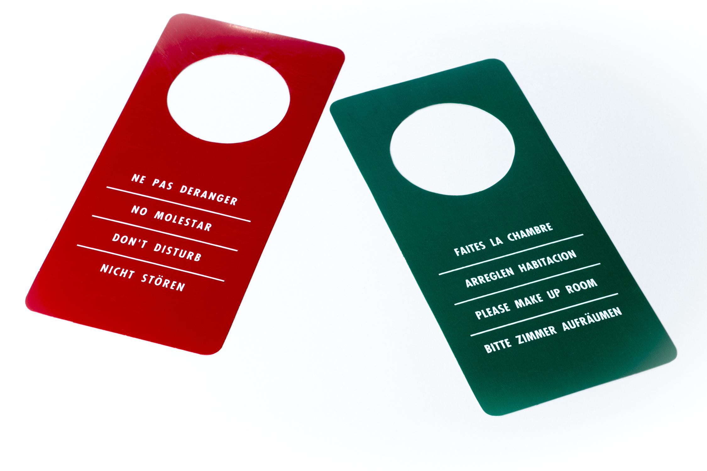 cartel puerta no molestar seyca plastic On cartel puerta